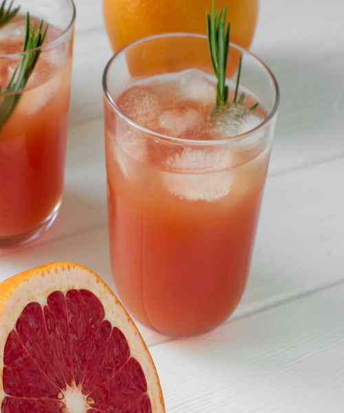 Grapefruits and Kale Juice