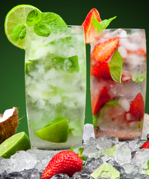 Minted fruit cocktail juice