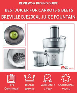 Breville BJE200XL Compact Juice Fountain Review - Best Juicer for carrots and beets