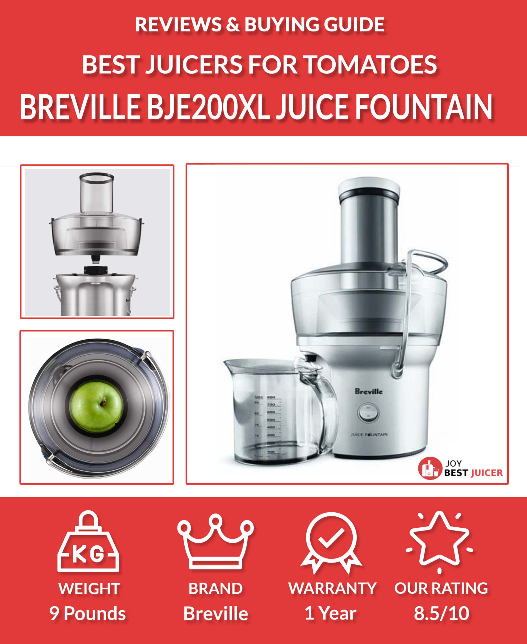 breville bje200xl compact juice fountain review - Best Electric Tomato Juicer