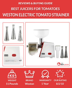 weston deluxe electric tomato strainer review
