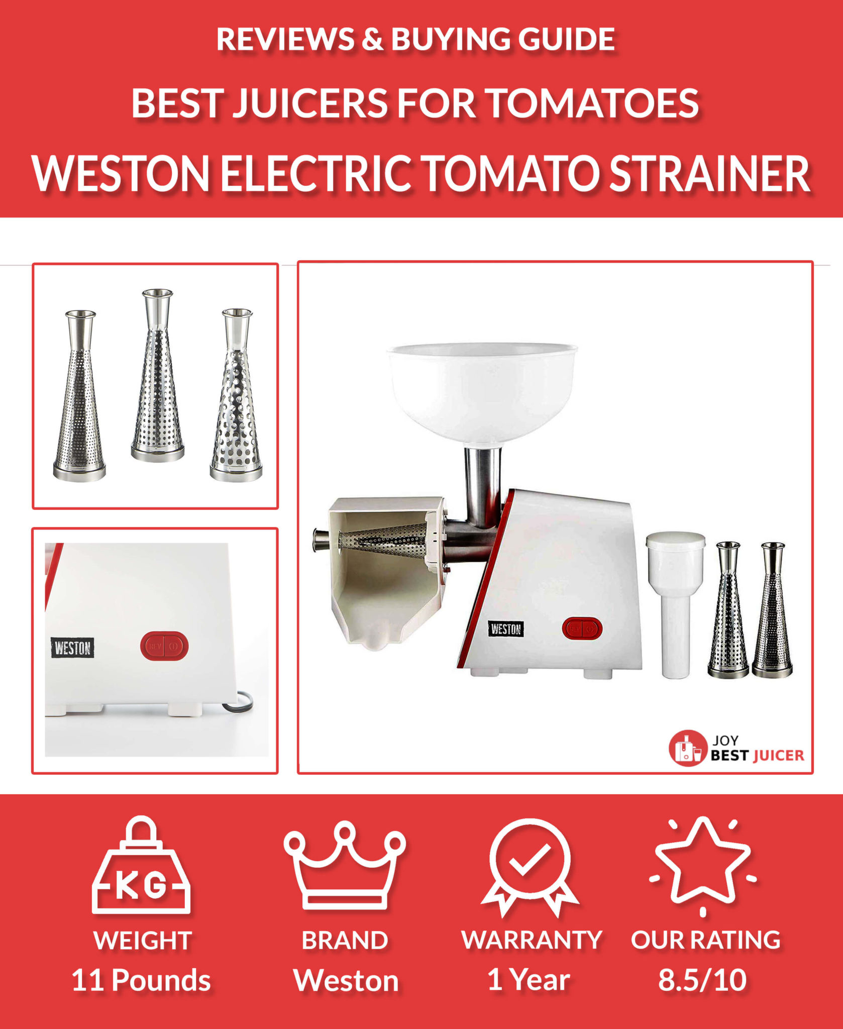 weston deluxe electric tomato strainer review - Best Tomato Juicer