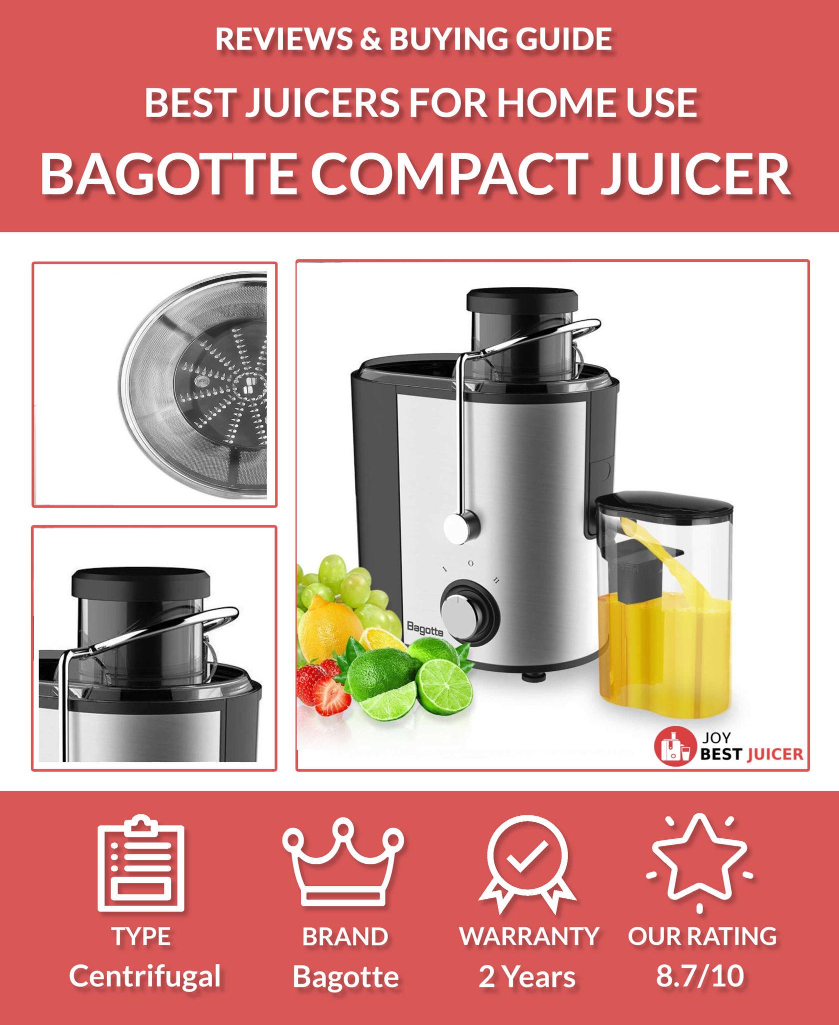 Bagotte Compact Juice Extractor Review - JoyBestJuicer.com