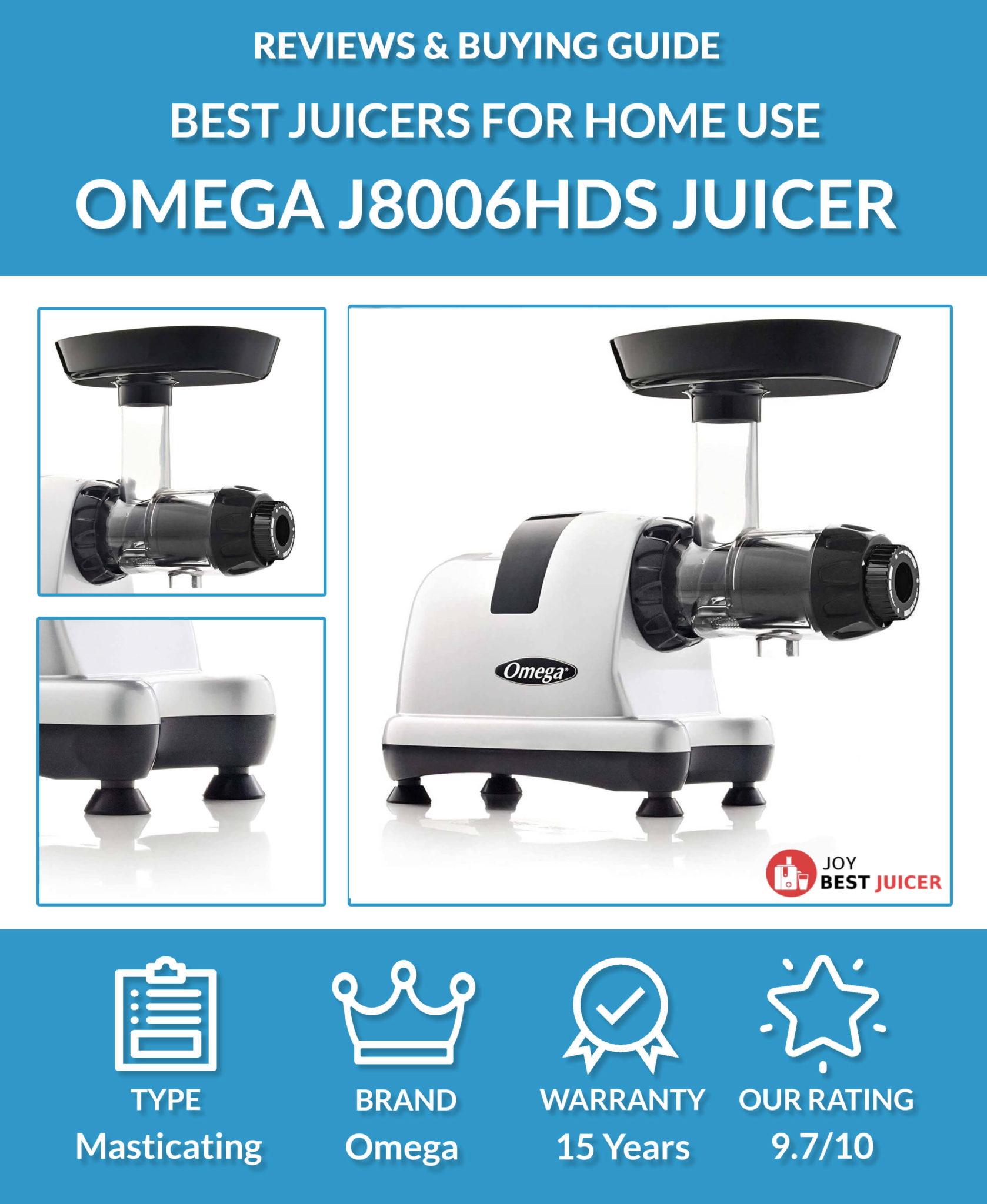 Omega J8006HDS Nutrition Center Juicer Review - JoyBestJuicer.com