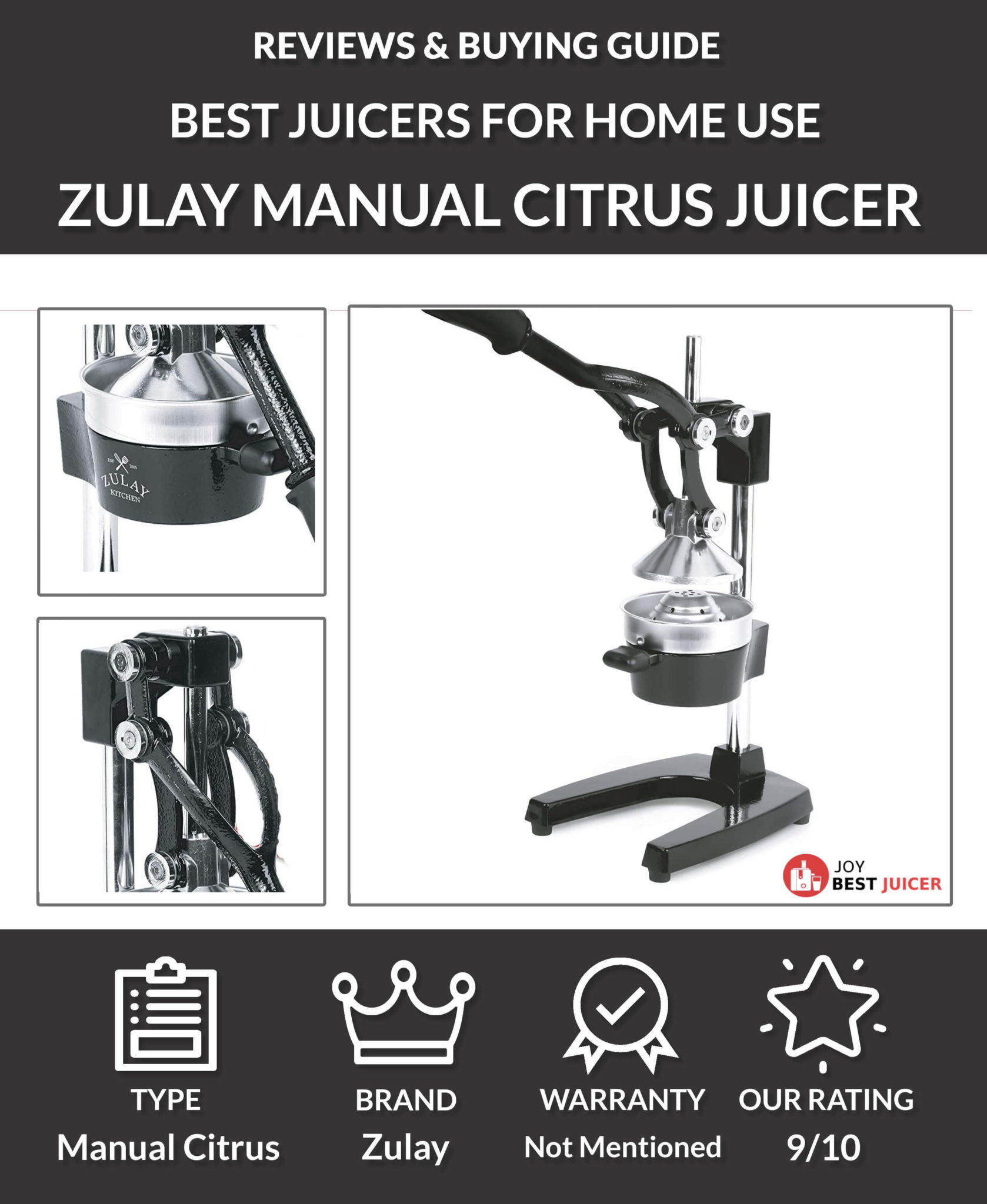 Zulay Professional Citrus Juicer Review - JoyBestJuicer.com