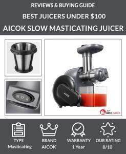 AICOK Slow Masticating Juicer Review - best juicer under $100