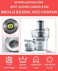 Breville BJE200XL Compact Juice Fountain Review - Best Juicer under $100