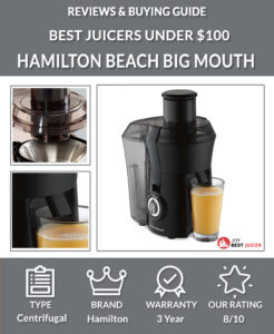 Hamilton Beach Big Mouth Juicer Review - best juicer under $100