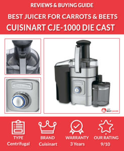 cuisinart cje-1000 die-cast juice extractor review - best juicer for carrots and beets