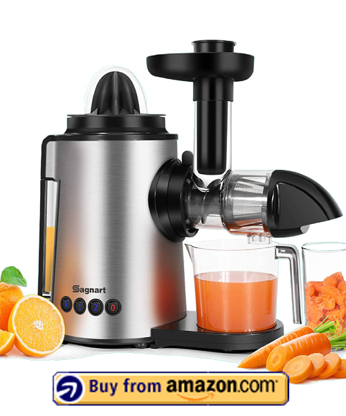 Sagnart Juicer Machines - Best 2 in 1 Slow Masticating Juicers 2021