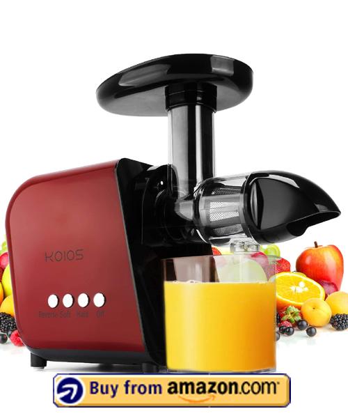 KOIOS Slow Masticating Juicer - Best Masticating ginger Juicer 2021